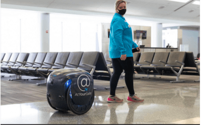 Travelers at Philadelphia International Airport can now get food delivered – by a robot